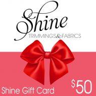 Shine gift card $50