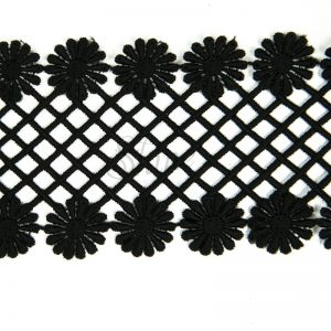 Guipure Lace Trimming CL-575 Black