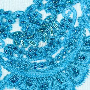Beaded Lace With Scalloped Edge