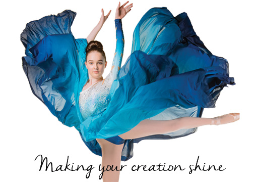 Shine Trimmings brand Fabrics brand dancer