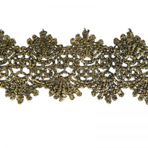 Gold Coated Lace Trim