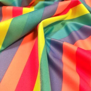 Rainbow Stripe Stretch Spandex