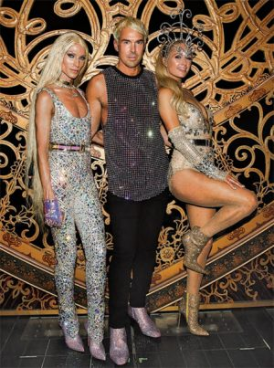 The Blonds with Paris Hilton at New York Fashion Week